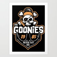 the goonies Art Prints featuring The Goonies by Buby87
