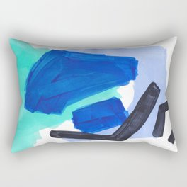 Ocean Torrent Whirlpool Teal Turquoise Blue Rectangular Pillow