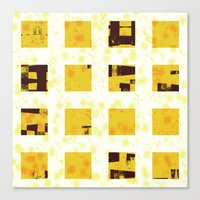 yellow pattern Canvas Prints featuring Yellow by SensualPatterns