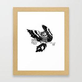 Midnight Thievery - Owl Framed Art Print