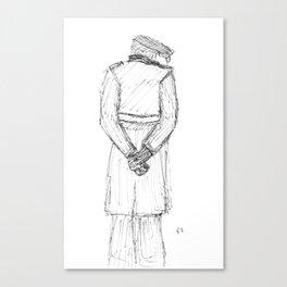 Flat Cap Man Canvas Print