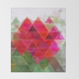 Red Rose Edges Art Triangles 1 Throw Blanket