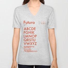 Futura Typography Poster Unisex V-Neck
