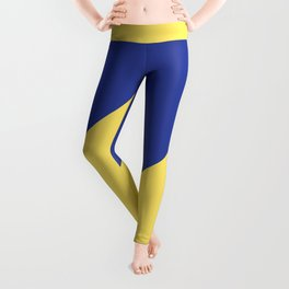 Modern royal blue sunshine yellow trendy color block Leggings