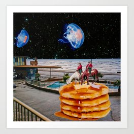 Dreams of Pancakes Art Print