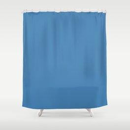 Steel Blue Shower Curtain