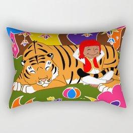 Tigre et enfant Rectangular Pillow
