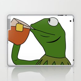 Kermit Inspired Meme King Sipping Tea Laptop & iPad Skin