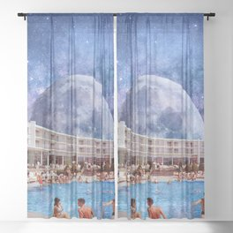 Summer in Space Sheer Curtain