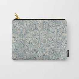 William Morris Vintage Sunflower Blue Slate & Vellum Carry-All Pouch