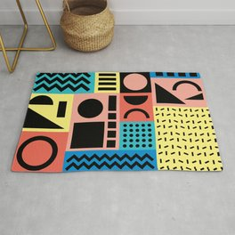 Neo Memphis Pattern 1 - Abstract Geometric / 80s-90s Retro Rug
