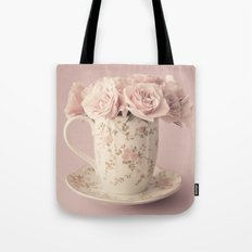 Soft Peonies in a cup Tote Bag