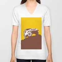 jeep V-neck T-shirts featuring car jeep by Luciano de Paula Almeida