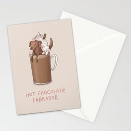 Hot Chocolate Labrador Stationery Cards