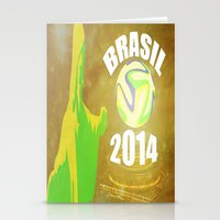 brasil Stationery Cards featuring Brasil 2014 by Beard Brothers Designs