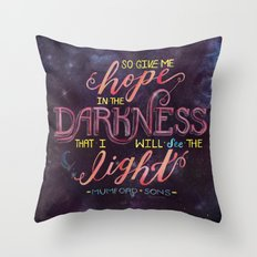 Hope in the Darkness Throw Pillow