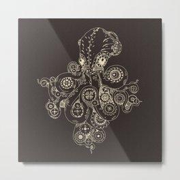 Steampunk Octopus Art Print Metal Print