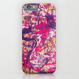 Splish Splash Abstract Painting iPhone Case