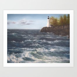 High Winds at the Point Art Print