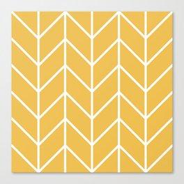 Herringbone Chevron (Mimosa) Canvas Print