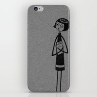 bookworm iPhone & iPod Skins featuring Bookworm by flapper doodle