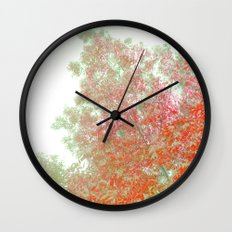Orange Frosted Wall Clock