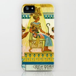Vintage 1933 Belgian Egyptian Motif Isis Osiris Liebig's Beef Extract Lithograph Advertisement Poste iPhone Case