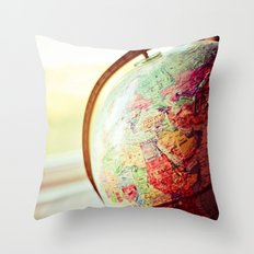 Globe  Throw Pillow