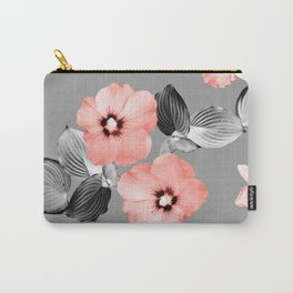Living Coral Floral Dream #5 #flower #pattern #decor #art #society Carry-All Pouch