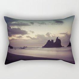 Long Exposure sunset in Benijo Beach Rectangular Pillow