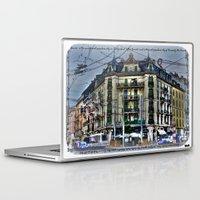 switzerland Laptop & iPad Skins featuring Geneva -  Switzerland by Vehen§Nes