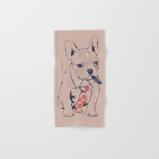 FRENCH BULLDOG BOSS Hand & Bath Towel