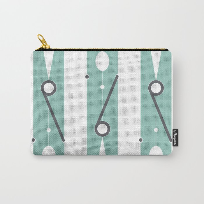 Clothespin Sign, Teal Carry-All Pouch