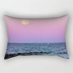 Full Moon on Blue Hour Rectangular Pillow