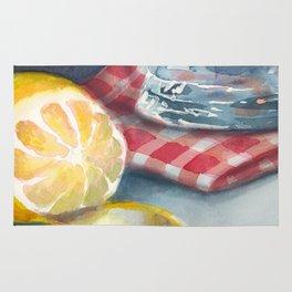 Lemon and a water jug Rug