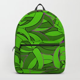 Abstract Emerald Green Forest Backpack