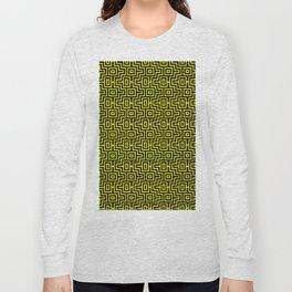 Yellow Buzz Puzzle Choctaw Pattern Long Sleeve T-shirt