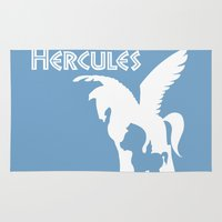 hercules Area & Throw Rugs featuring Hercules by Citron Vert