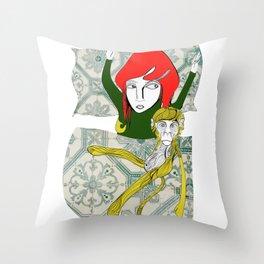 Tina&Ape Throw Pillow
