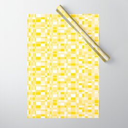 Mod Gingham - Yellow Wrapping Paper