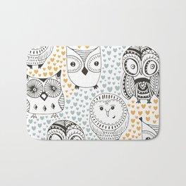 Owls Being Owls Bath Mat