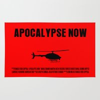 apocalypse now Area & Throw Rugs featuring Apocalypse Now Move Poster by FunnyFaceArt