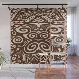 tiki doodle Wall Mural