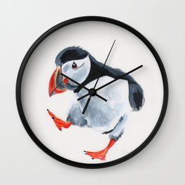Puffin Babe Wall Clock