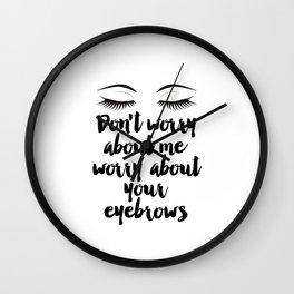 Beauty Room Decor,Eyebrows on Fleek, Makeup Printable, Beauty Printable,Eyelash Print, Makeup Wall Clock