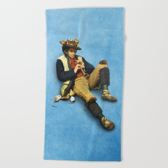 The Piper of Hamelin Beach Towel