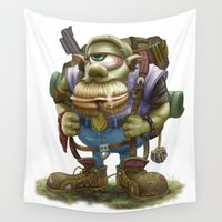 cyclops Wall Tapestries featuring Cyclops Moblin by Denzel A Jackson