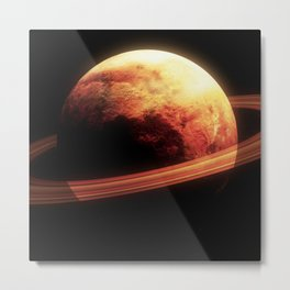 Realistic planet from space Metal Print