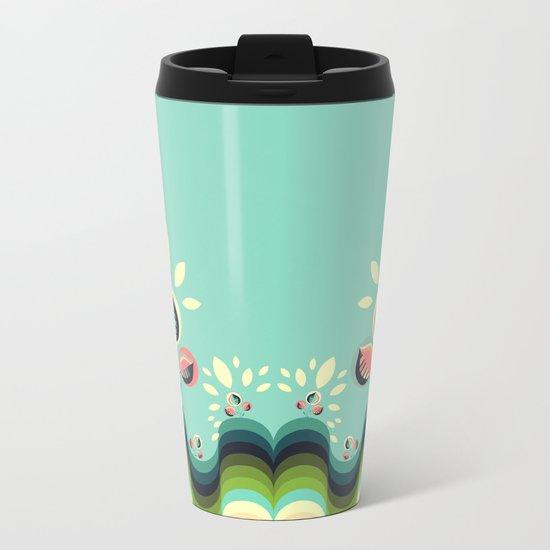 Happy Garden Metal Travel Mug