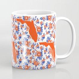 Florida University silhouette orange and blue pattern sports football college gators gator fan Coffee Mug